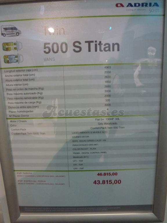 Adria Twin 500 S Titan