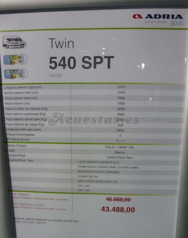 Adria Twin 540 SPT