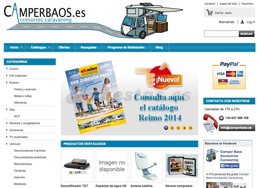 c18b7bcae5a CamperBaos, Tienda on-line de accesorios caravaning: artículos para  autocaravanas, caravanas, furgos, camping.