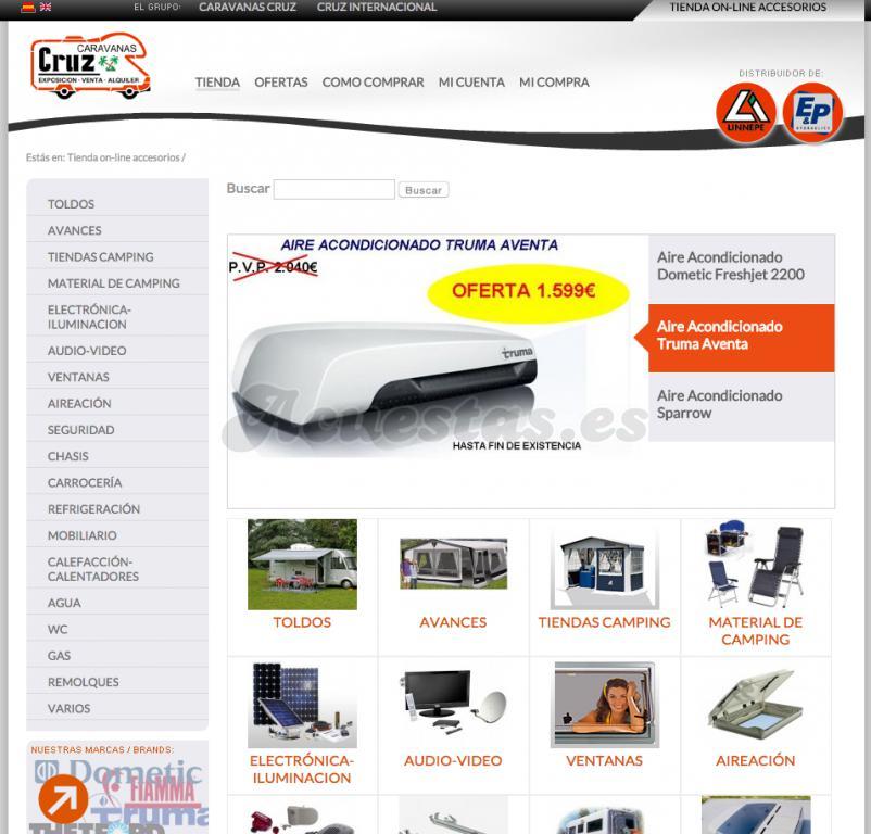ccfa6f932b3 Caravanas Cruz, Tienda on-line de accesorios de caravanas, respuestos