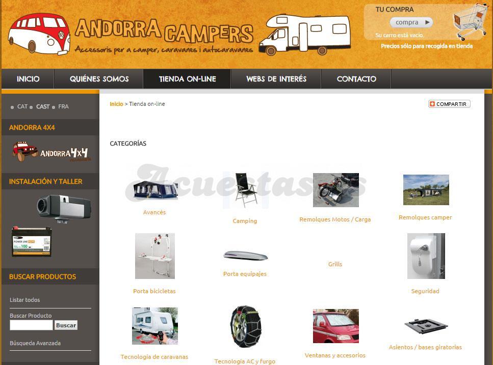 71ff13cf29b Andorra Campers, Tienda de accesorios para camper, caravanas y  autocaravanas.