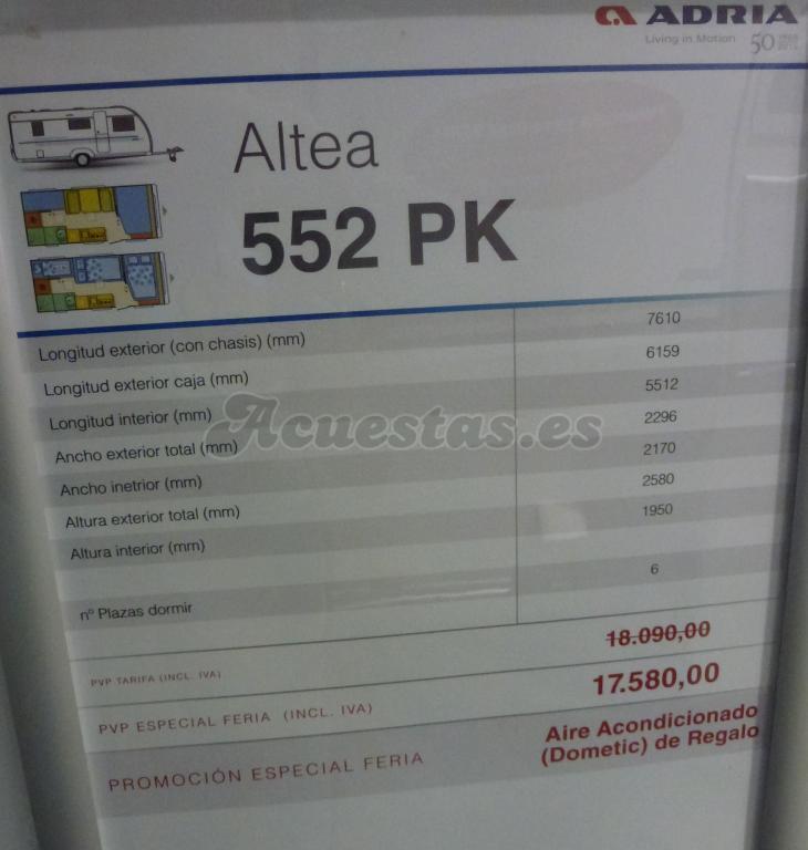 Adria Altea 552 PK
