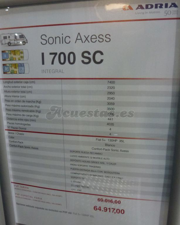 Adria Sonic Axess I 700 SC