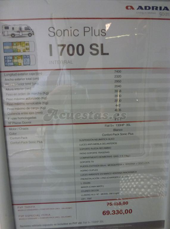 Adria Sonic Plus I 700 SL