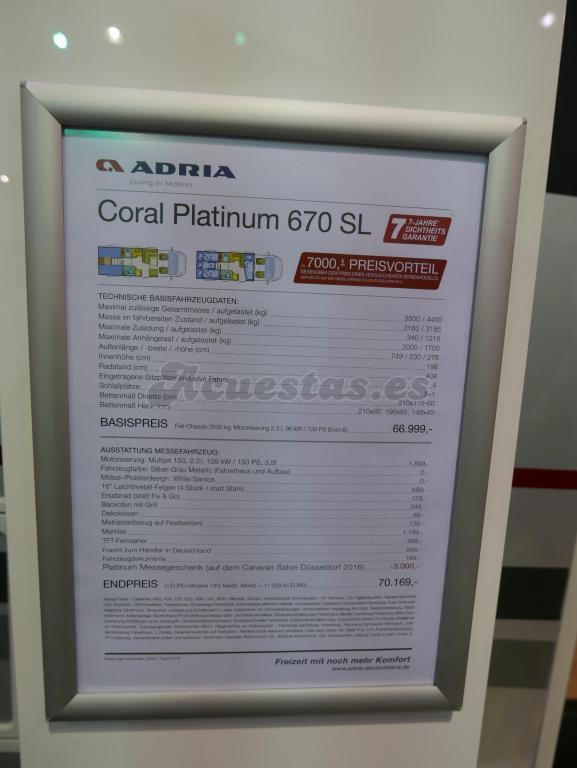 Adria Coral Platinum 670 SL