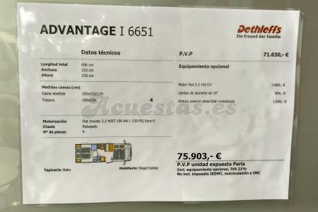 Dethleffs Advantage I 6651