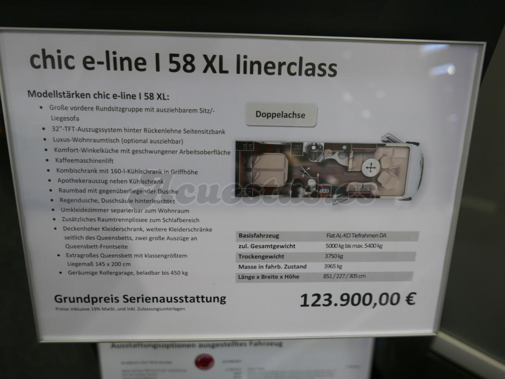 Carthago Chic E-Line I 58 XL linerclass