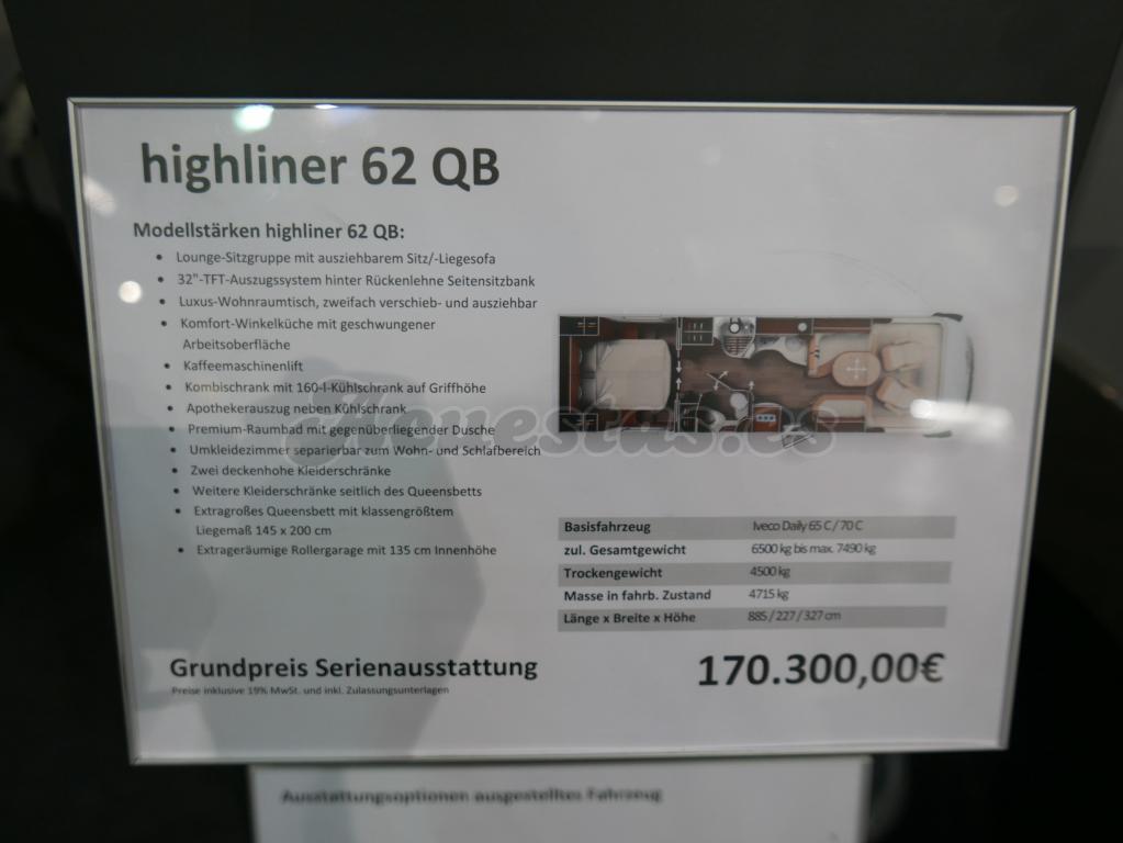 Carthago Highliner 62QB