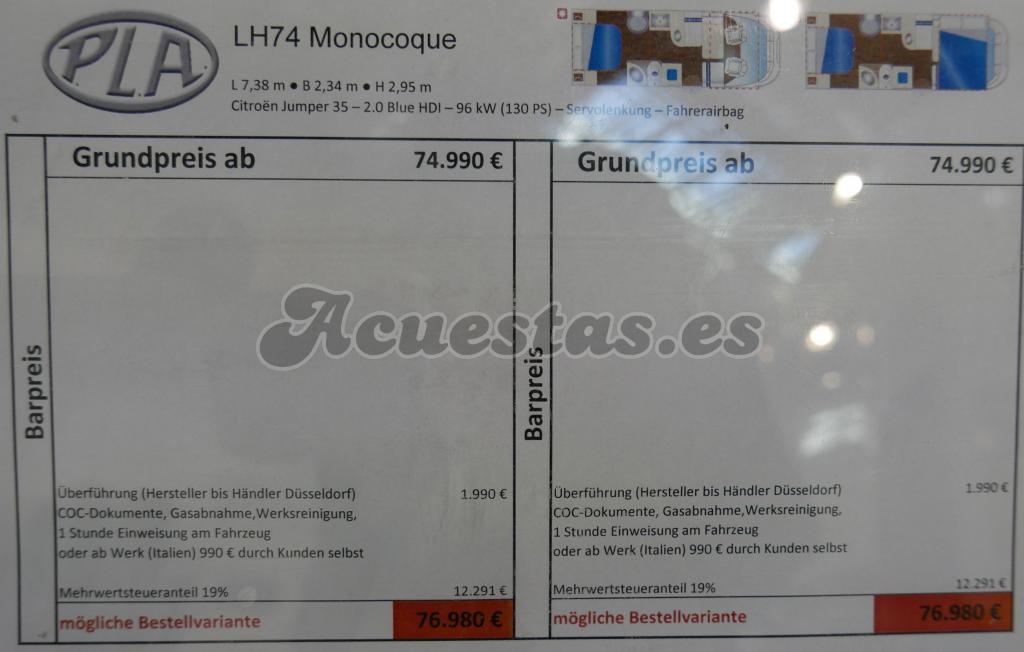PLA LH74 Monocoque