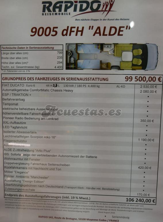 "Rapido 9005 dFH ""ALDE"""