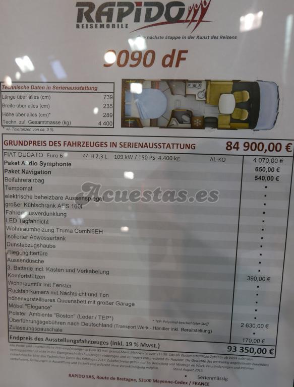 Rapido 9090 dF
