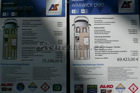 Auto Sleepers Warwick Duo