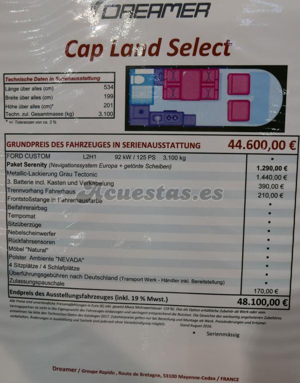 Dreamer Cap Land Select