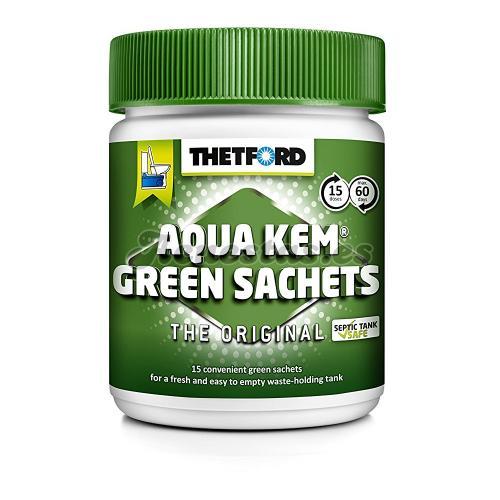 15 Bolsitas Thetford Aqua Kem Green Sachets