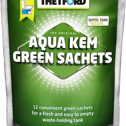 12 Bolsitas Thetford Aqua Kem Green Sachets