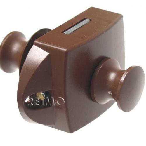 Cierre pulsador con roseta para puerta o armario caravana autocaravana - Ref. 532710