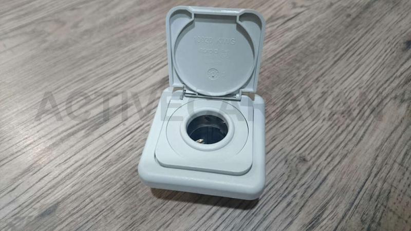 Enchufe tipo encendedor 12v color gris claro completo