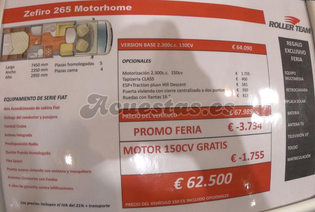Roller Team Zefiro 265 Motorhome