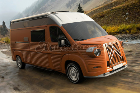 Ya puedes tener tu moderna camper o autocaravana retro
